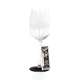 Wine Glass with Chalkboard Base