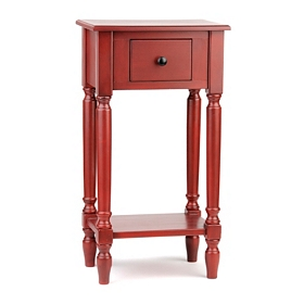 Red Rectangle Accent Table