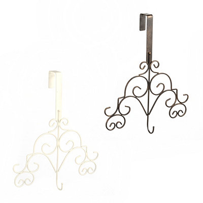 Metal Scroll Wreath Hangers