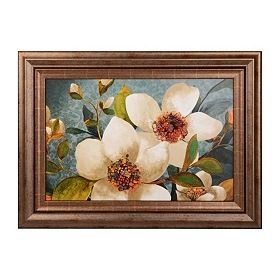 Peach Blossoms Framed Art Print