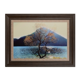 Waterside Hill Framed Art Print