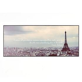 A Walk In Paris Wall Plaque