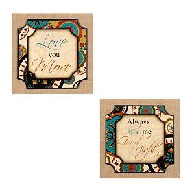 Love & Kisses Plaques