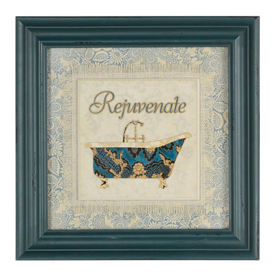 Blue Spa I Framed Art Print