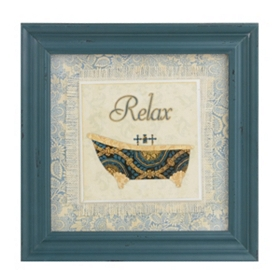 Blue Spa II Framed Art Print