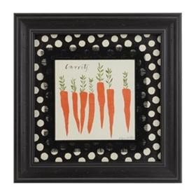 Carrot Veggie Plate Framed Art Print