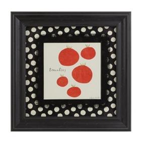 Tomato Veggie Plate Framed Art Print