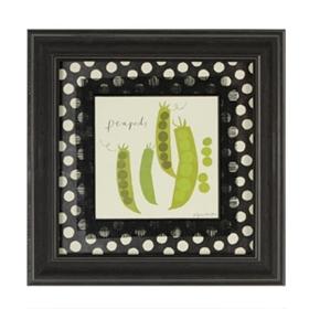 Peapod Veggie Plate Framed Art Print