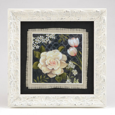 White Peonies I Framed Art Print
