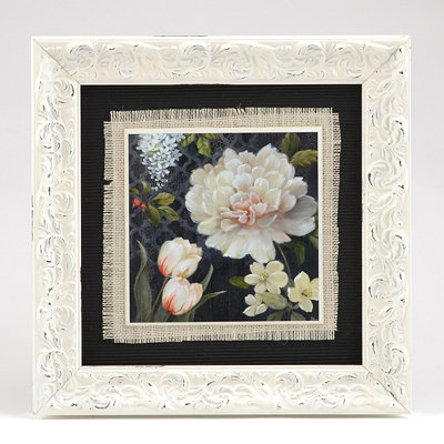 White Peonies II Framed Art Print