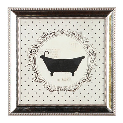 Polka Dot Bath I Framed Art Print
