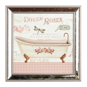 Rose Garden Tub II Framed Art Print