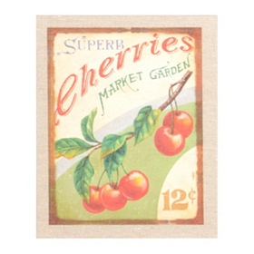 Superb Cherries Wall Plaque