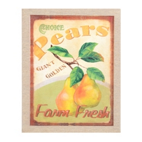 Choice Pears Wall Plaque