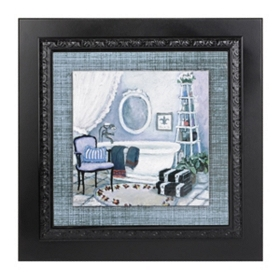 Violet Bath I Framed Art Print