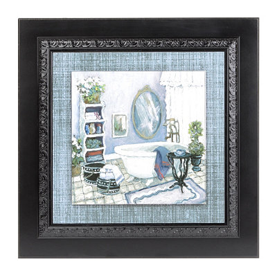 Violet Bath II Framed Art Print