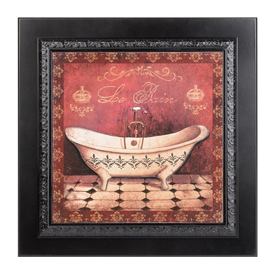 Vintage Red Tub I Framed Art Print