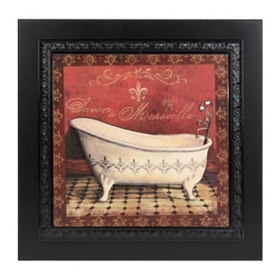 Vintage Red Tub II Framed Art Print