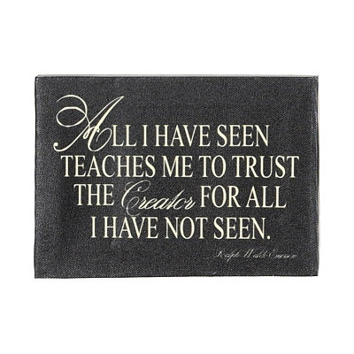 All I Have Seen Canvas Plaque
