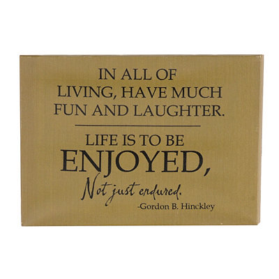 Enjoy Life Wall Plaque