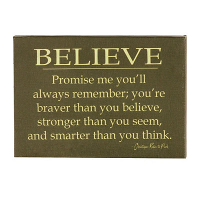 Braver, Stronger, and Smarter Wall Plaque