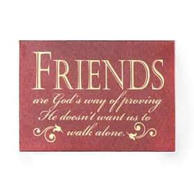Friends Are God's Way Wall Plaque