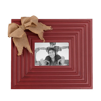 Burlap Bow Red Picture Frame, 5x7