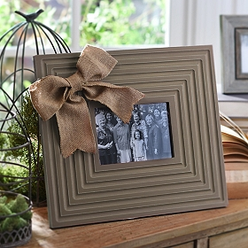 Burlap Bow Cream Picture Frame, 5x7