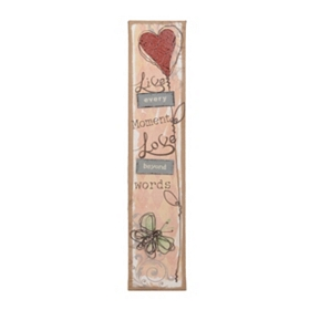 Live Every Moment Burlap Plaque