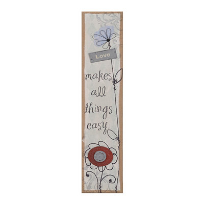 Love Makes All Things Easy Burlap Plaque