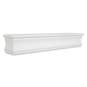 White Wall Shelf, 24 in.