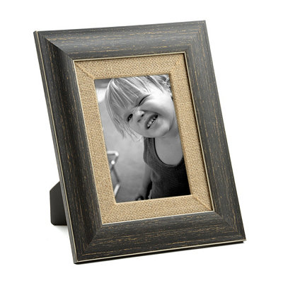 Distressed Black Barnwood Picture Frame, 5x7