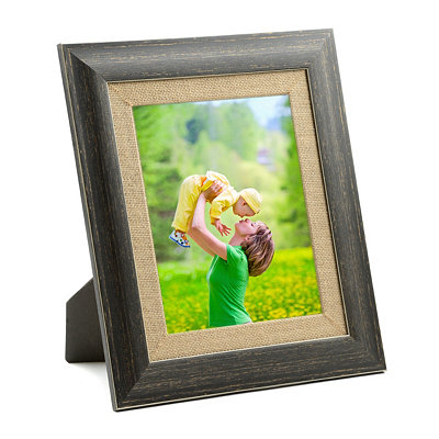 Distressed Black Barnwood Picture Frame, 8x10