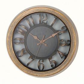 Antiqued Gold Cutout Dial Wall Clock