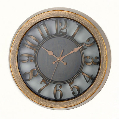 Antiqued Gold Cutout Dial Wall Clock