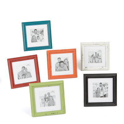Distressed Color Burst Picture Frames, 4x4