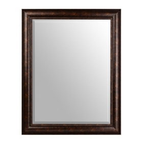 Bronze Framed Beveled Mirror, 30x40