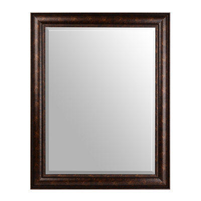 Bronze-Framed Beveled Mirror, 30x40