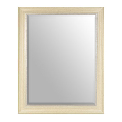 Distressed Cream Framed Mirror, 38x48