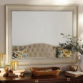 Distressed Cream Framed Mirror, 38x48