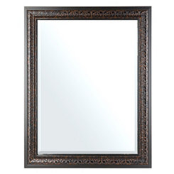 Embossed Tortoise Framed Mirror, 37x47 in.