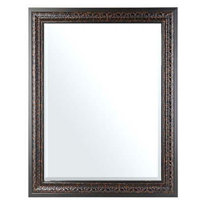 Embossed Tortoise Framed Mirror, 37x46 in.