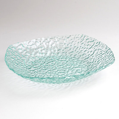 Square Pebbled Glass Bowl