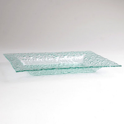 Pebbled Glass Platter