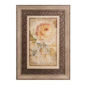 Parisian Flowers I Framed Art Print