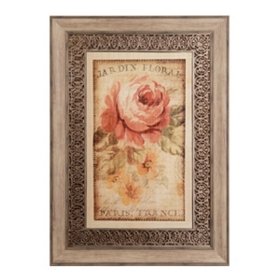 Parisian Flowers II Framed Art Print