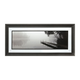 Foggy Dock Framed Art Print