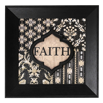 Black & Ivory Faith Wall Plaque