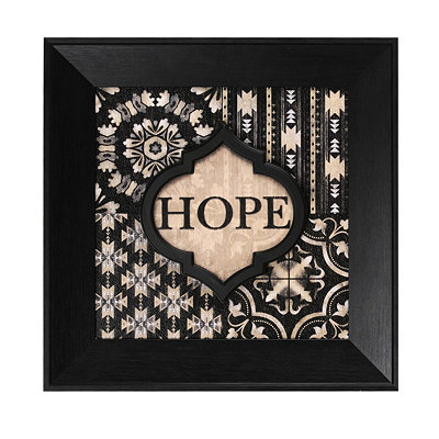 Black & Ivory Hope Wall Plaque