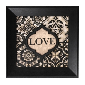Black & Ivory Love Wall Plaque